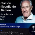 Presentación de la filosofía de Alain Badiou. Taller de introducción a la ontología materialista