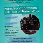 Taller: Producción, corrección y edición de textos 2017