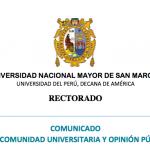 Comunicado a la comunidad universitaria y opinión pública – 30 de marzo.