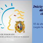 Posgrado: Hoy serealizará la clase inaugural del Semestre Académico 2017-I