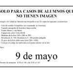 Solo para alumnos que no tienen imagen: plazo hasta el 9 de mayo