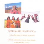 Semana de Lingüística-23 al 29 de mayo.