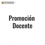 Resultados de la Promoción Docente 2014