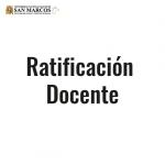 Resultados de la Ratificación Docente 2016