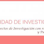Proyectos de Investigación con recursos no monetarios y Publicación Académica: Puntajes