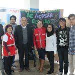 Estudiantes de la Escuela de Comunicación Social realizan activación con el Ministerio de la Mujer