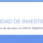 Registro de docentes en DINA, REGINA, ORCID Y Google Scholar
