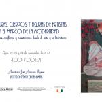 Seminario Internacional: Lecturas, cuerpos y figuras de artistas en el marco de la modernidad: tensiones, conflictos y resistencias desde el arte y la literatura