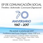 CEREMONIA CENTRAL DEL 70° ANIVERSARIO DE LA ESCUELA PROFESIONAL DE COMUNICACIÓN SOCIAL DE LA UNMSM