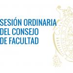 Sesión Ordinaria del Consejo de Facultad – 27 de setiembre de 2017