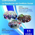 Conferencia: La Resolución del Conflicto Social, en el marco del 70° aniversario de Comunicación Social