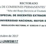 Convocatoria al Proceso de Selección para Docente Extraordinario Experto de la UNMSM