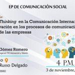 Desing Thinking en la Comunicación Interna, en el marco del 70º aniversario de la EP de Comunicación Social