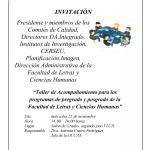 Taller de Acompañamiento para los programas de pregrado y posgrado de la FLCH