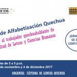 Trabajador quechuahablante de Letras: tenemos un taller para ti