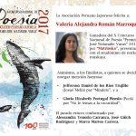 Valeria Román gana el premio de poesía «José Watanabe Varas 2017»