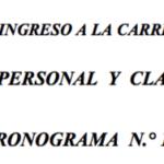 CONCURSO PÚBLICO PARA EL INGRESO A LA CARRERA DOCENTE DE LA UNMSM  ENTREVISTA PERSONAL Y CLASE MODELO  CRONOGRAMA N.° 1