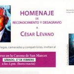 Se posterga el homenaje de reconocimiento y desagravio a César Lévano