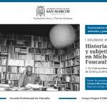 I Coloquio Internacional de Filosofía Contemporánea: Saber, Poder y Subjetivación en Michel Foucault