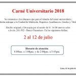 Carné Universitario 2018: alumnos regulares pueden realizar el trámite