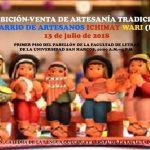 Exhibición-venta de productos del Barrio de Artesanos de Ichimay Wari, Lurín, en San Marco