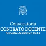 Bases del Concurso Público para contrato docente a plazo determinado 2018-II