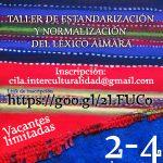 TALLER DE ESTANDARIZACIÓN Y NORMALIZACIÓN DEL LÉXICO GRAMATICAL PEDAGÓGICO AIMARA-CASTELLANO PARA EL ÁREA DE COMUNICACIÓN
