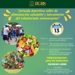 Jornada deportiva,  Taller de alimentación saludable y Lanzamiento del voluntariado sanmarquino