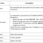 Cronograma de Matrícula del Ciclo de verano 2019-0