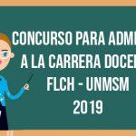 Concurso para Admisión a la Carrera Docente 2019 de la UNMSM