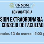 Consejo de Facultad Sesión Extraordinaria – Convocatoria