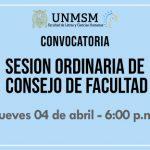 Sesión Ordinaria del Consejo de Facultad – Abril
