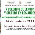 X Coloquio de Lengua y Cultura en los Andes