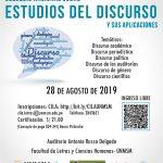 Coloquio Nacional sobre Estudios del Discurso y sus aplicaciones