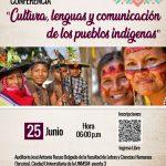 """Conversatorio """"Cultura, lenguas y comunicación de los pueblos indígenas"""""""