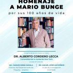 Homenaje a Mario Bunge por sus 100 años de vida