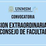 CONSEJO DE FACULTAD SESIÓN EXTRAORDINARIA – Lunes 15 de julio – 11:00 am