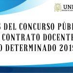 Bases del Concurso Público para Contrato Docente a Plazo Determinado 2019-II (Segunda Convocatoria)