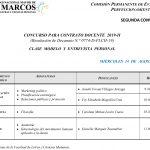 Concurso de Contrato Docente 2019-II (segunda convocatoria) (Clase Modelo y Entrevista Personal)