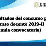 Resultados del Concurso para Contrato Docente 2019-II (segunda convocatoria)