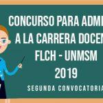 Proceso de Admisión a la Carrera Docente 2019- Segunda Convocatoria