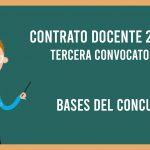 Bases del Concurso Público para Contrato Docente a Plazo Determinado 2019-II 3°convocatoria
