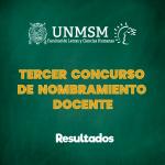 TERCERA CONVOCATORIA NOMBRAMIENTO DOCENTE 2019