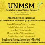Egresadas de la E. P. de Bibliotecología ganan Concursos Nacionales de ESTÍMULOS ECONÓMICOS PARA EL LIBRO Y EL FOMENTO DE LA LECTURA