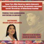 Primera tesis sanmarquina sustentada en quechua