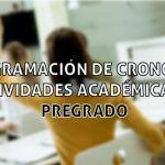 Reprogramación de cronograma de actividades académicas 2019 – Pregrado