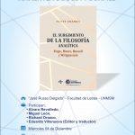 CONVERSATORIO  «El surgimiento de la filosofía analítica de Scott Soames»