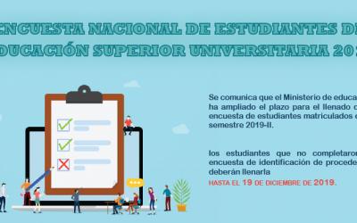 Encuesta nacional de estudiantes de educación superior universitaria 2019