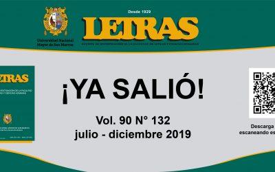 ¡YA SALIÓ REVISTA INDEXADA «LETRAS»!