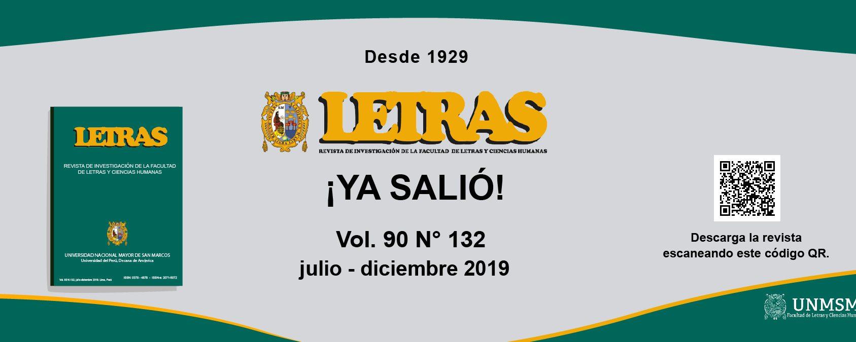 Revista Letras 2019 Julio - Diciembre